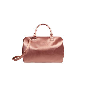 Lipault Miss Plume Bowling Bag M in the color Pink Gold.