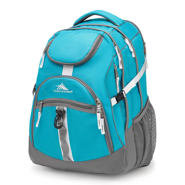 High Sierra Access Backpack in the color Tropic Teal/Charcoal/White.