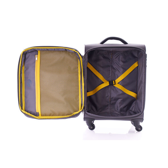 "American Tourister Warren 20"" Spinner in the color Grey Yellow."