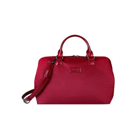 Lipault Lady Plume Bowling Bag M in the color Amaranth Red.
