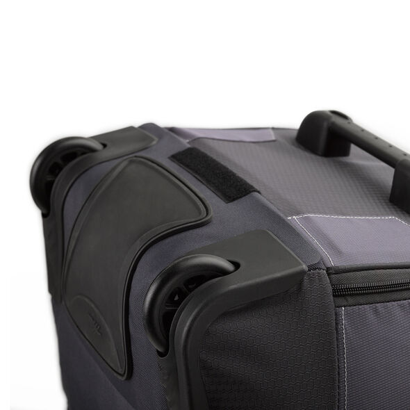 """High Sierra Ultimate Access 2.0 30"""" Wheeled Duffel in the color Mercury/Charcoal/Yell-O."""