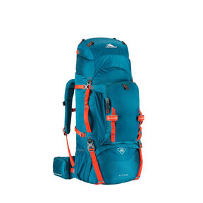 High Sierra Titan 65 Frame Pack in the color Lagoon/Redline.