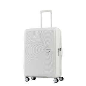 "American Tourister Curio 25"" Spinner in the color White."