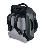 "High Sierra AT3 22"" Wheeled Backpack in the color Graphite/Titanium/Spring."