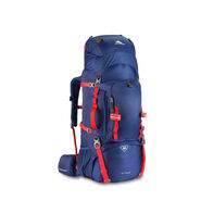 High Sierra Titan 65 Frame Pack in the color True Navy/Crimson.