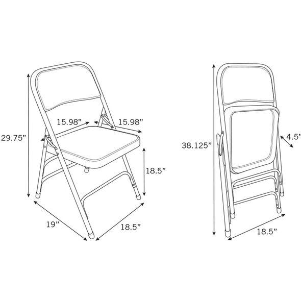 Samsonite 2800 Series Vinyl Padded Seat Chair (Case/4) in the color Black.