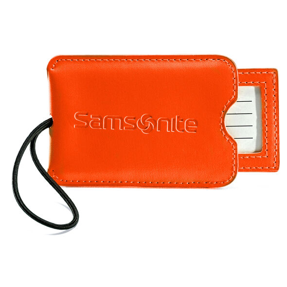 Samsonite Vinyl ID Tag (Set of 2) in the color Juicy Orange.