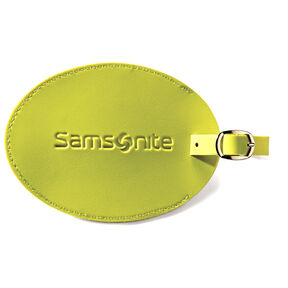 Samsonite Large Vinyl ID Tag in the color Neon Green.