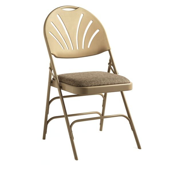 Samsonite XL Fanback Steel & Fabric Folding Chair (Case/4) in the color Neutral.