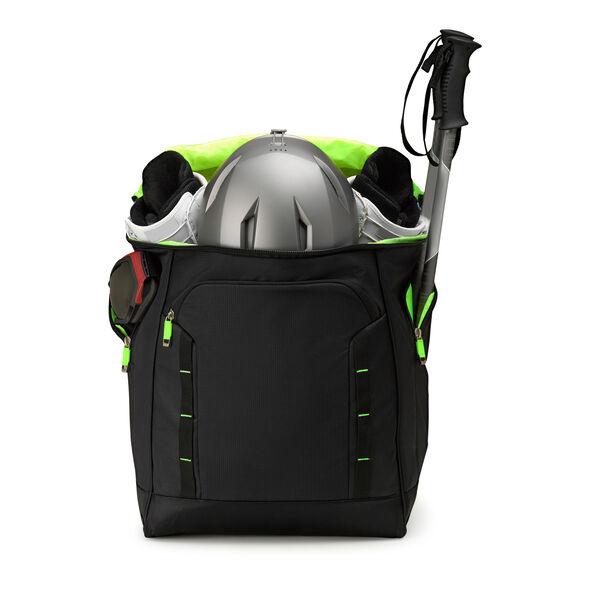 High Sierra Deluxe Bucket Boot Bag in the color Black/Zest.
