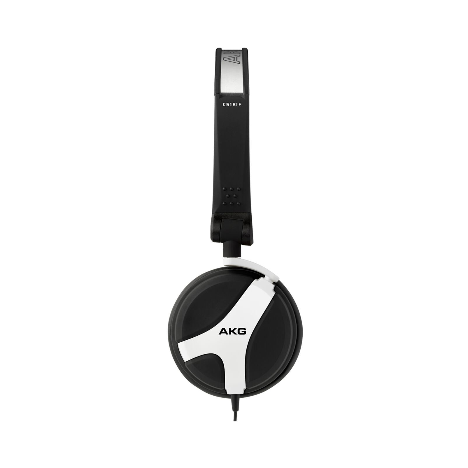 Image of AKG Harman K 518 DJ WHT DJ Headset mono On Ear Zwenkbare oorschelpen Rubberzwart