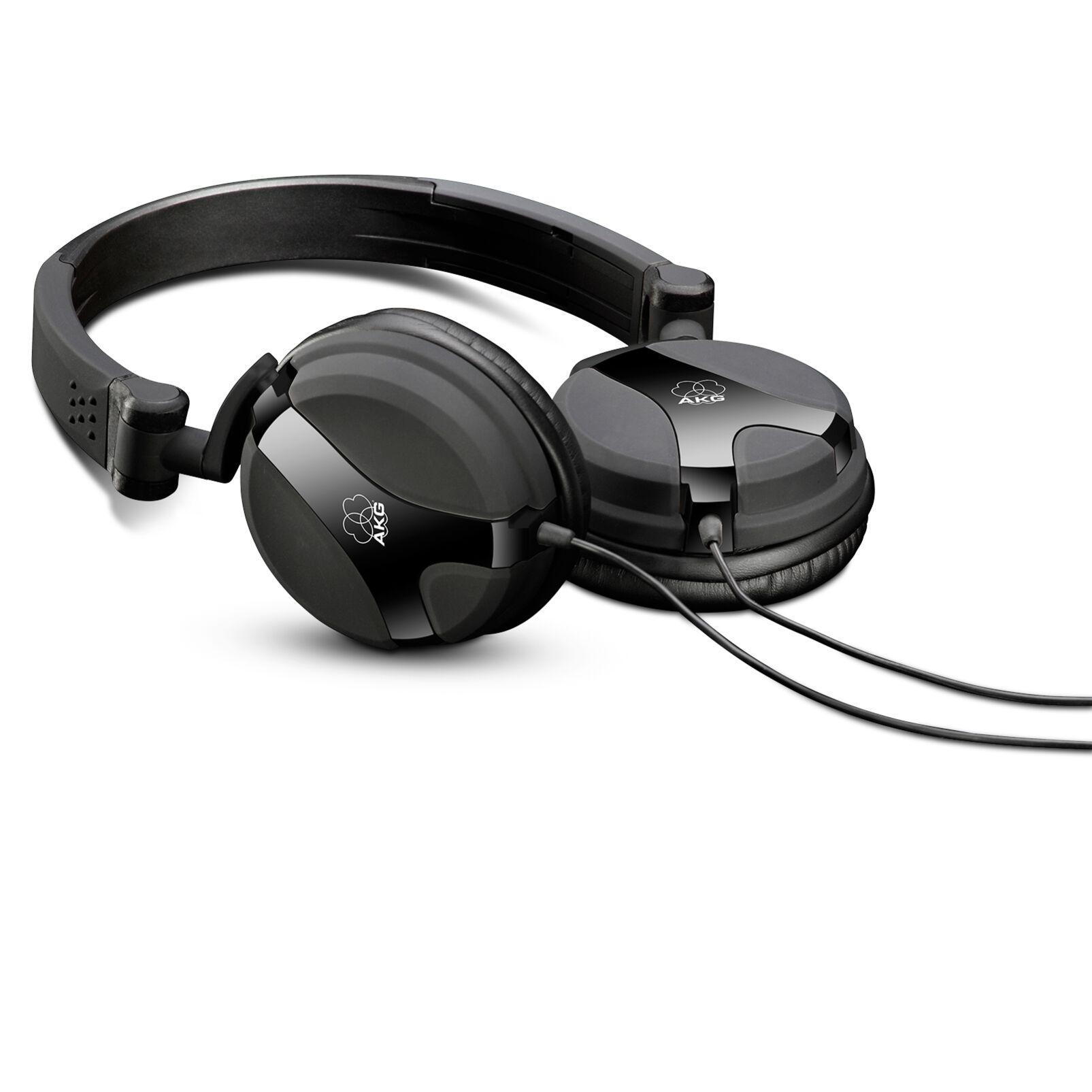 Image of AKG Harman K 518 DJ BLK DJ Koptelefoon On Ear Vouwbaar, Zwenkbare oorschelpen Zwart