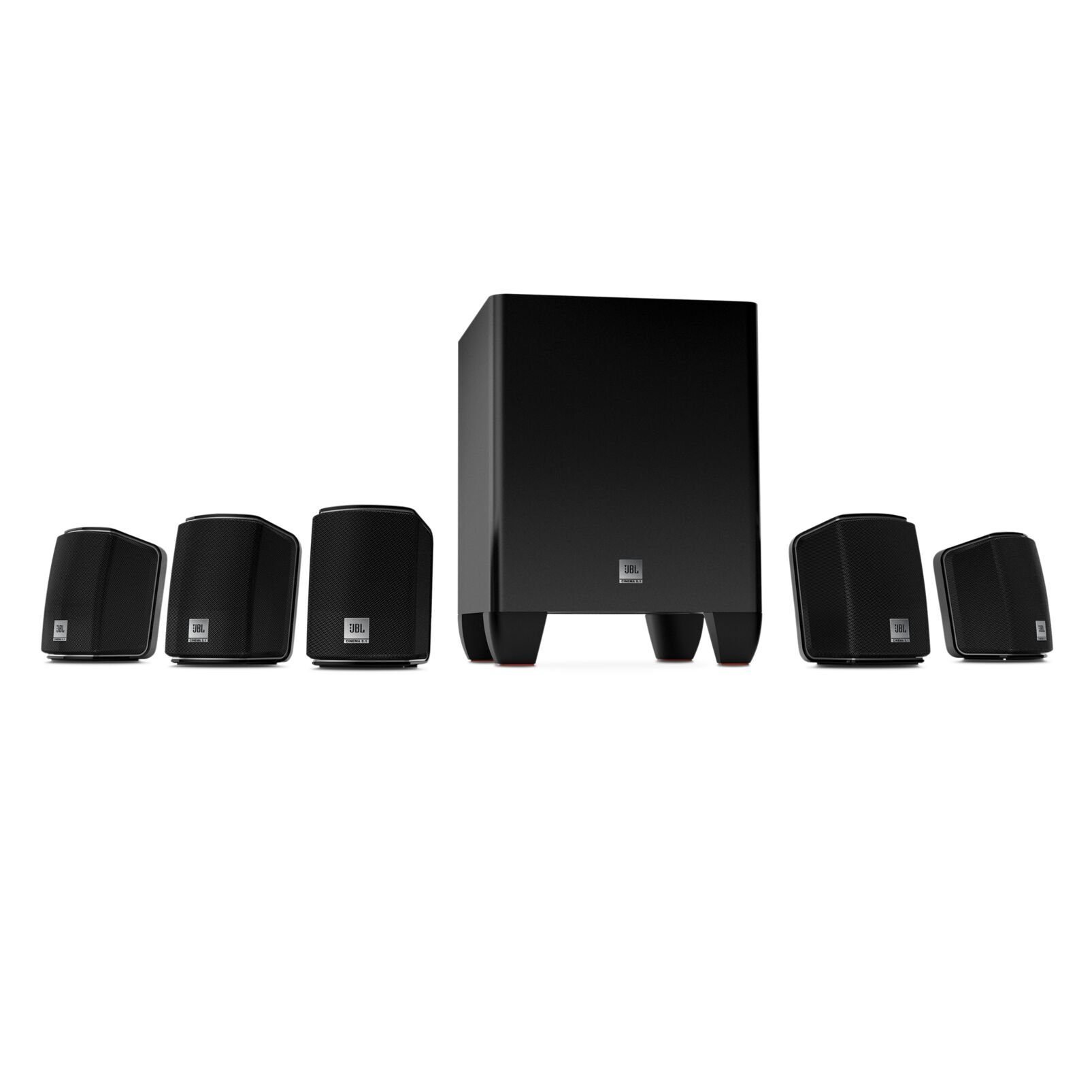 jbl cinema 510 5 1 home theater speaker system with 5 satellites 1 subwoofer ebay. Black Bedroom Furniture Sets. Home Design Ideas