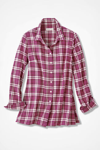 Northcountry Flannel Shirt, Mulberry, large