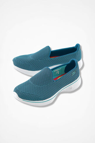 """Go Walk 4"" Sneakers by Skechers®, Teal, large"