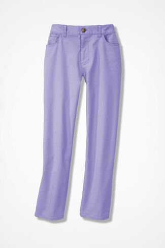 Washed CottonLuxe® Crops, Lavender, large