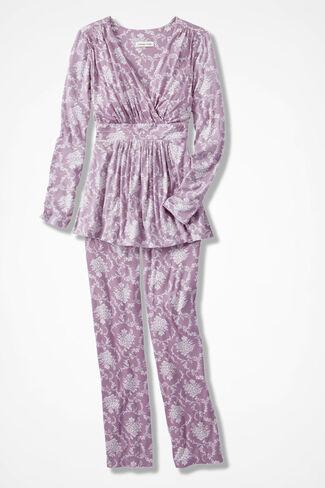 Floribunda Knit PJs, Pink Thistle, large