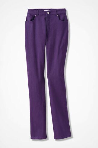 The Creek® Straight-Leg Jeans, Plum, large