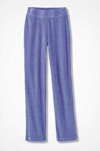 Velour du Jour Straight-Leg Pants, Perfect Peri, large