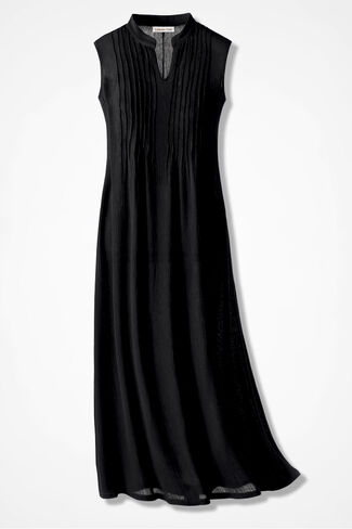 Easy Breezy Gauze Maxi Dress, Black, large