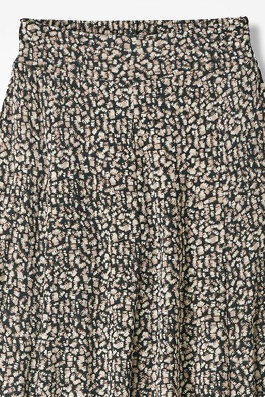 Destinations Geo-Print Gored Skirt, Dune, large