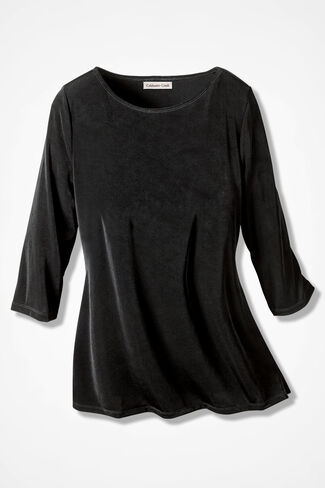 Destinations by Coldwater Creek® Tunic, Black, large