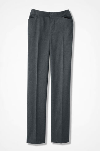 The Stretch Flannel Gallery Pant, Heather Grey, large