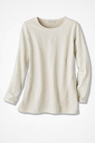 Stripe Surprise Tunic, Natural, large