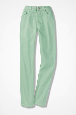 The Creek® Ankle Jeans, Mint, large