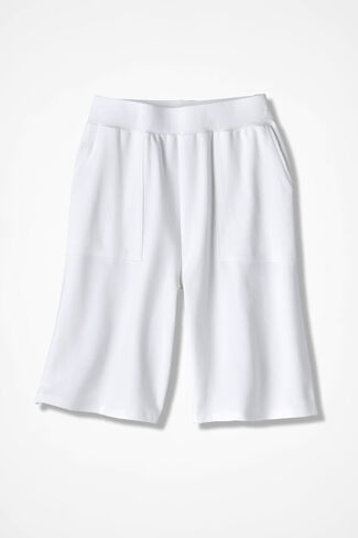 Essential Supima® Shorts, White, large