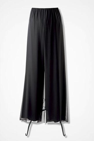 Chiffon Soirée Pants, Black, large
