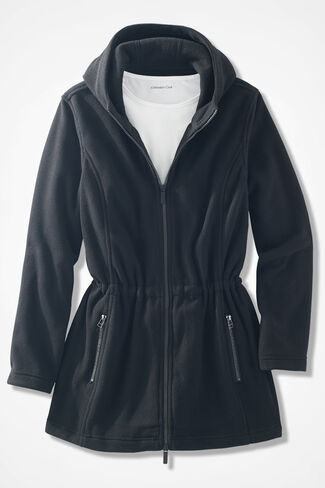 Great Outdoors Fleece Anorak, Black, large