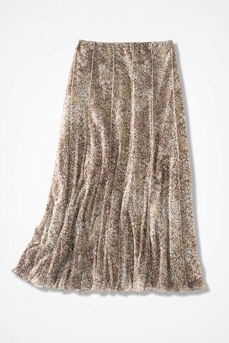 Artful Impressions Mesh Knit Skirt, Sand, large