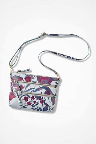 Moody Floral Convertible Clutch, Vienna Currant, large