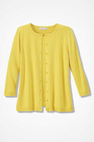NEW Classic Cardigan, Canary Yellow, large