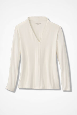 Simply Sophisticated Knit Top, Ivory, large