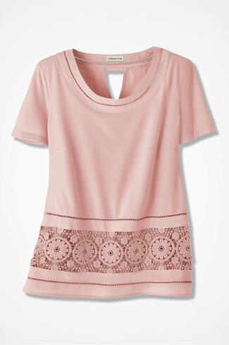 Magic Circles Embroidered Blouse, Blush, large