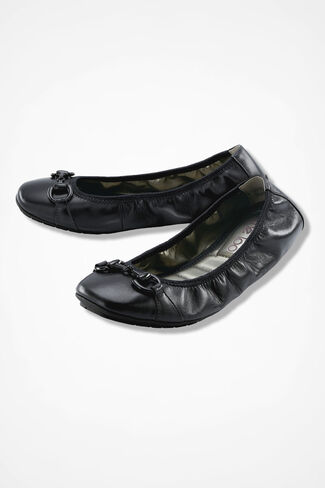 """Legend 2.0"" Flats by Me Too®, Black, large"