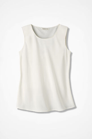 NEW Do-It-All Sleeveless Shell, Ivory, large