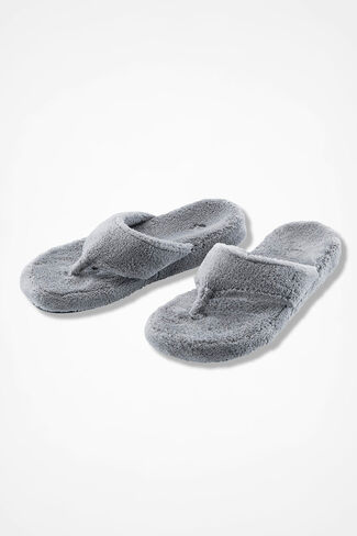 """Spa Thong"" Slippers by Acorn®, Grey, large"