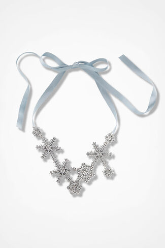 Winter Elegance Necklace, Silver, large