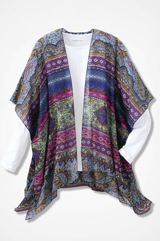 Patterns at Play Scarf Vest, Multi, large