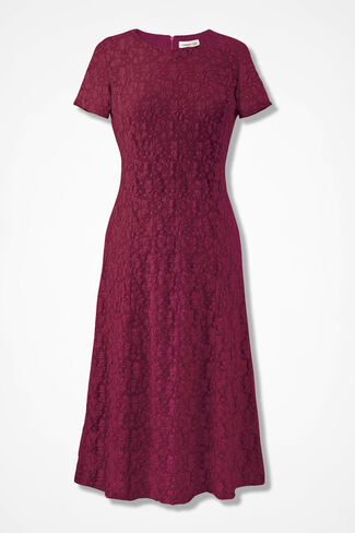 Lace Romance Dress, Deep Pomegranate, large