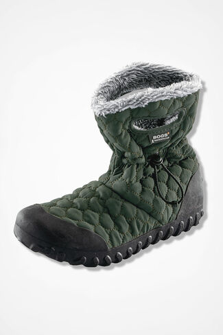B-Moc Quilted Puff Boots by Bogs®, Dark Green, large