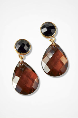 Colordrops Earrings, Amber/Gold, large