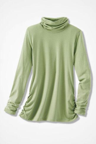 PrimaKnit® Turtleneck, Leaf Green, large