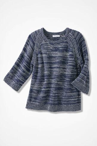 Shades of Indigo Sweater, India Ink, large