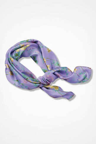 Signs of Spring Neckerchief, Lavender, large