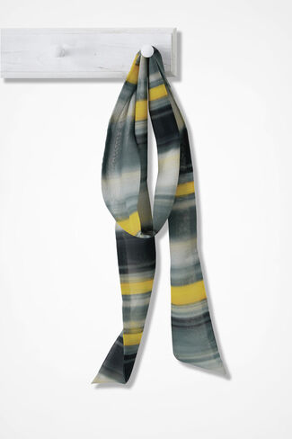 Skinny Scarf of Many Stripes, Multi, large