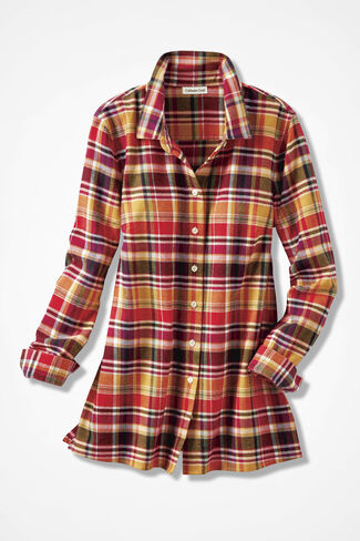Northcountry Flannel Shirt, Honey, large